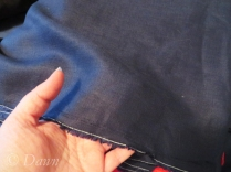Blue medium-weight linen from Fabricland