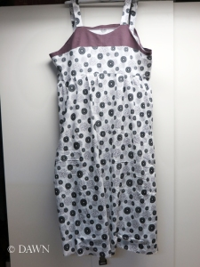 New cotton (with linen yoke) sundress for the summer!