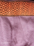 Purple apron with orange swatch