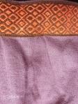 Purple apron with orange swatch