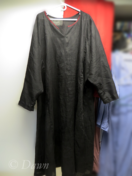 black linen underdress