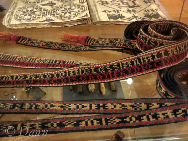 Tablet weaving examples from the Iceland National Museum