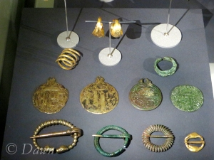 Rings, pendants, and penannular brooches in the Iceland National Museum.
