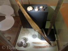 Drop spindle whorls and loom tools