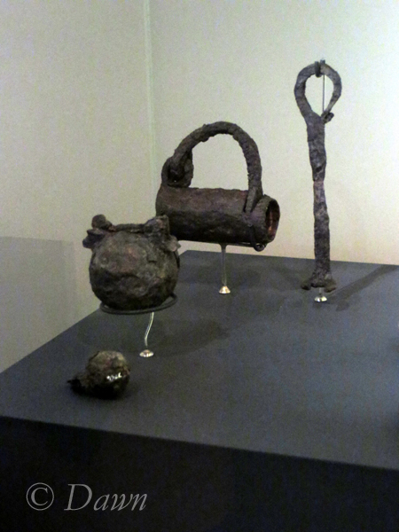 "Padlocks in the Iceland National Museum's ""Medieval"" area (vs. Viking age)"