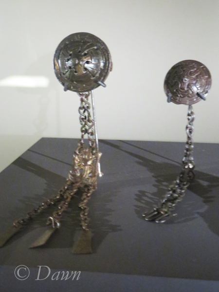 Dangling brooches at the Iceland National Museum