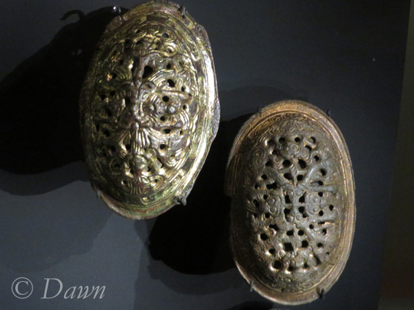Domed Tortoise brooches in the Iceland National Museum