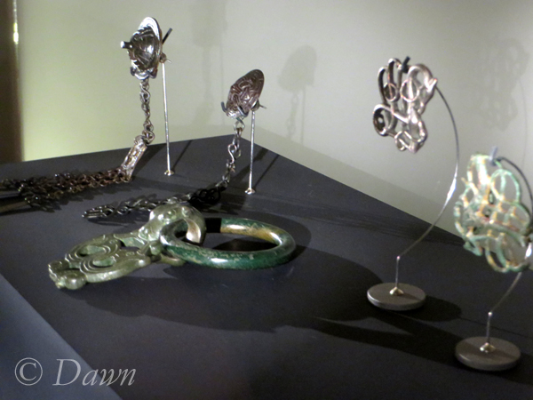 An assortment of brooches in the Iceland National Museum.