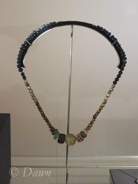 Beaded necklace from a woman's grave
