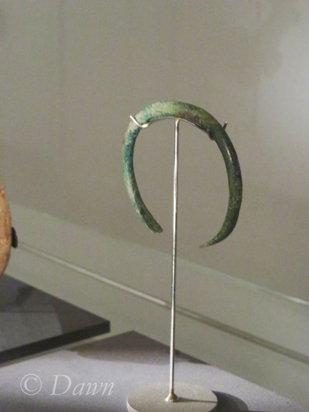 Bracelet or arm band from a female grave, as displayed at the Iceland National Museum.