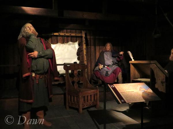 A scene of Icelandic politics in the Saga Museum