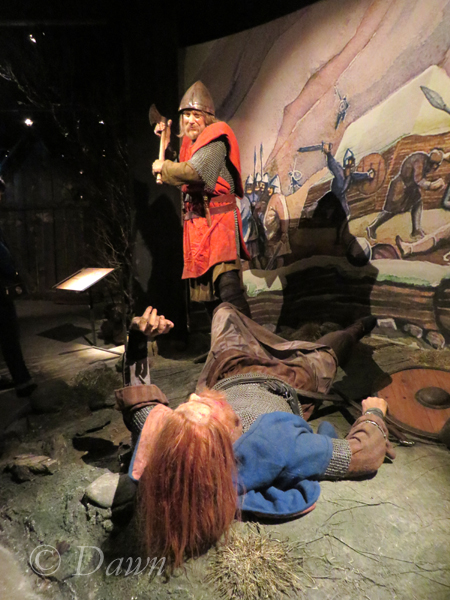 Scene from a battle at the Saga Museum
