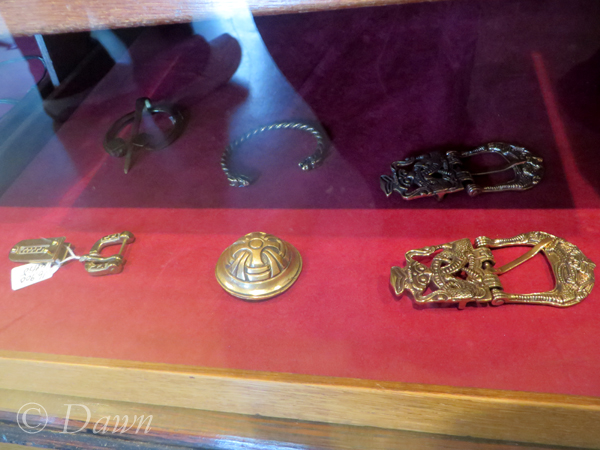 A few jewelry items from the Saga Museum gift shop