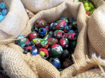 Viking Age reproduction beads for sale in the Saga Museum gift shop