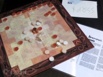 Reproduction Hnefatafl board game at the Settlement Museum