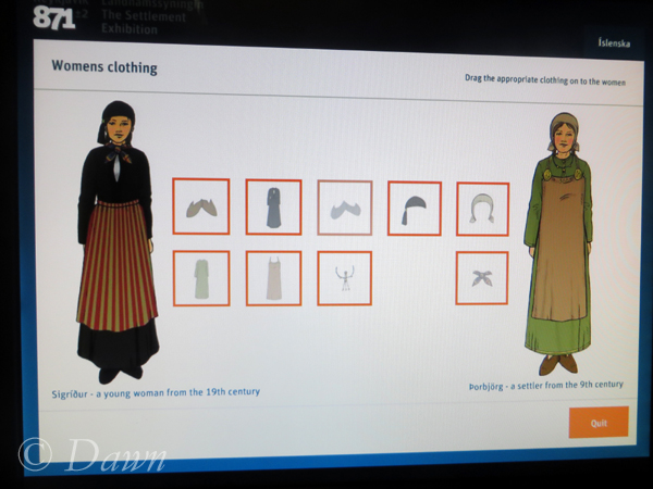 In this game the player selects various garment items and guesses which age they belong to