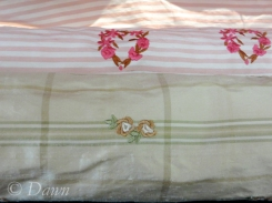 Embroidered silks at Gala Fabrics