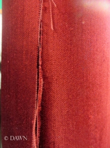 Close up of the bamboo velvet - it doesn't give the true idea of the sheen though