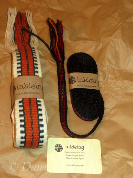 Inkle weaving from Inkling