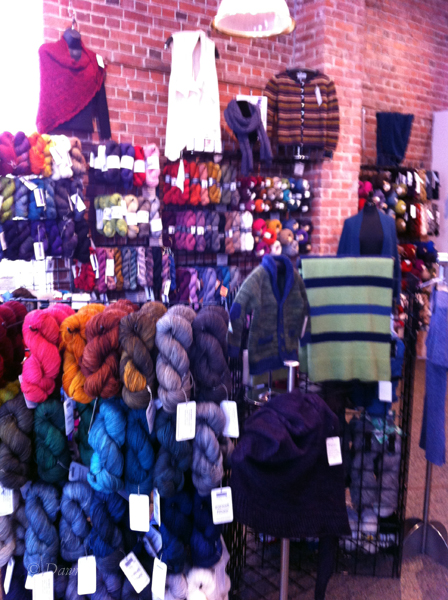 iPhone photo from the Beehive wool shop in Victoria, BC.
