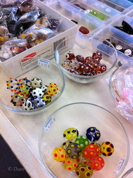 Lampwork beads at Beadworld in Victoria