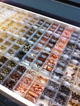 Lots of beads to choose from at Beadworld in Victoria!