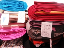 Variety of lightweight wool suiting fabrics from Gala Fabrics in Victoria, BC.