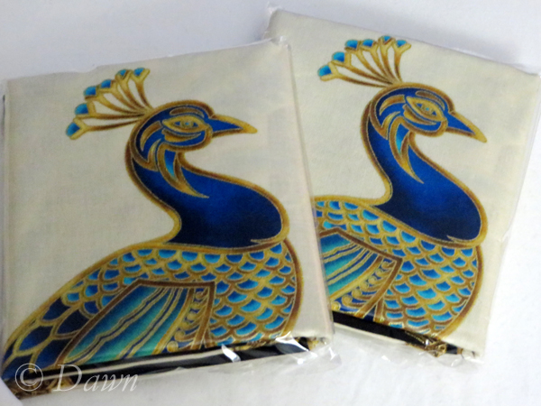 Peacock panels from Satin Moon in Victoria, BC