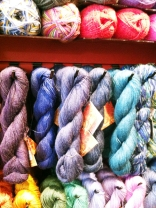 Yarn at the Button & Needlework Boutique in Victoria, BC.