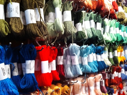 Appleton wool at the Button & Needlework Boutique in Victoria, BC.