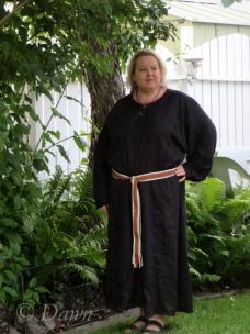 Black linen underdress