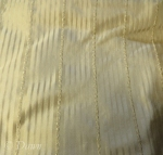 "Beige/gold/tan striped tone-on-tone silk with narrow ""ribbon"" stripe"