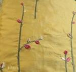 Bright Yellow Flowered Silk