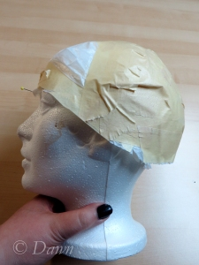 My foam head modeling my plastic and tape head shape
