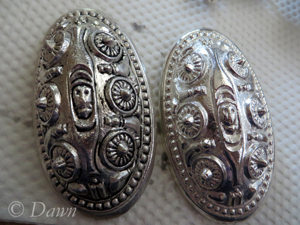 Before and after - toning down the silver plating