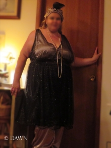 Timer shot to show off the whole dress (without the hooped hem)