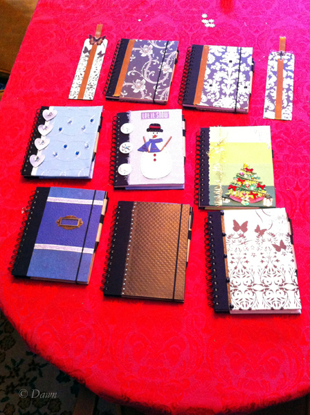 iPhone photo of our notebooks