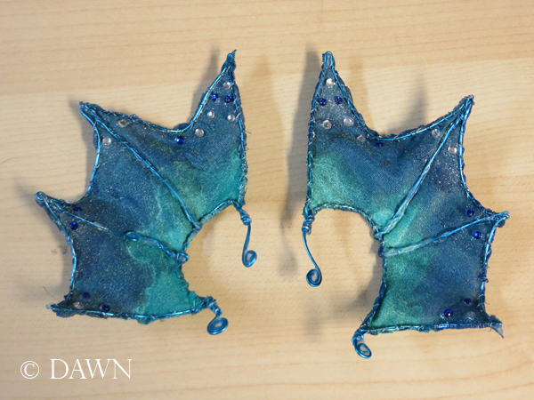 Completed ear fins for my Enchantment Under the Sea costume.