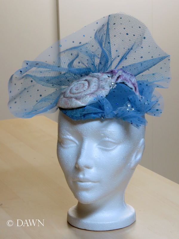 "The cocktail hat or fascinator for my ""Enchantment Under the Sea"" costume."