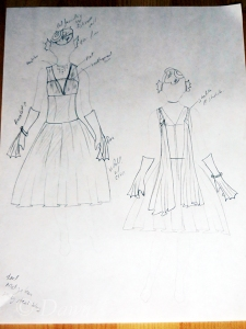 Original sketch for Enchantment Under The Sea costume