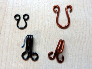 Comparing a hand-made hook and eye with a commercially available version