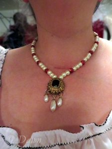Finished necklace for my 1480s Florence costume.