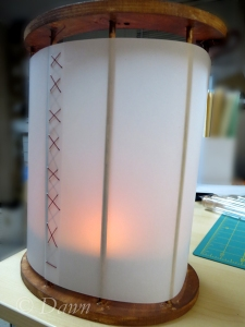 Testing it out before the last few steps, with a burning candle inside