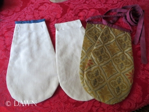Backs of the pockets - showing a variation in how they'll be worn