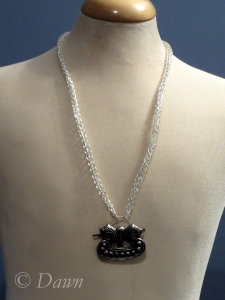 Chain shown with an example of a pendant (I'm not including the pendant mind you.. just an example...)