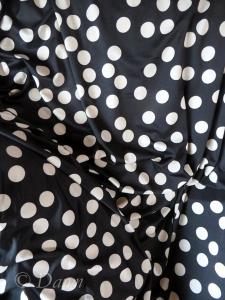 Black & white polka-dot knit