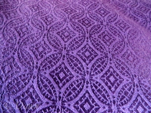 Better sample of the purple damask colour - though still not quite right