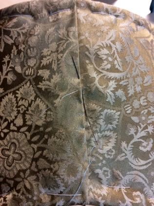 slip-stitching the centre back seam
