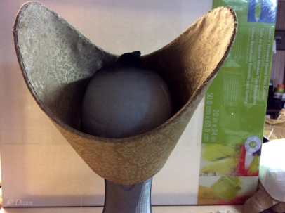 The hat from the back, work in progress