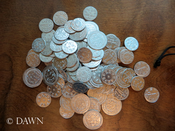 "My own personal ""hoard"" of Viking Age (replica) coins from Alpha Officium"